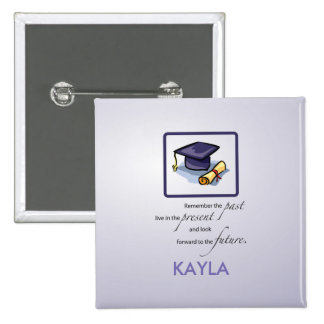 Graduation Hats in Air, Custom Square Gift 2 Inch Square Button
