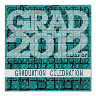 Graduation Invitation Celebrate 2012 Mosaic Teal