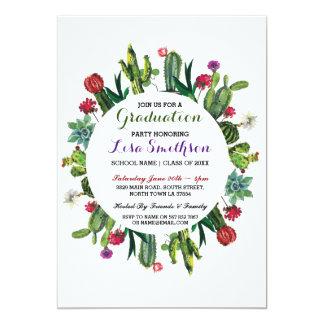 Graduation Invitation Party Fiesta Cactus Invite
