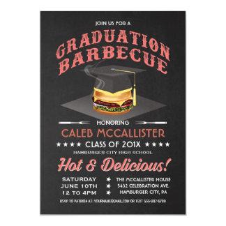 Graduation Invitations   BBQ Party Chalkboard