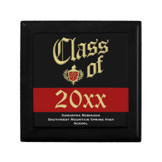 Graduation Keepsake Box, Red or Custom Color Gift Box