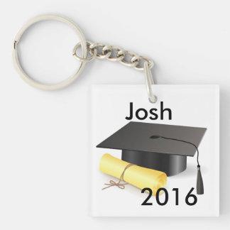 Graduation Key Ring Double-Sided Square Acrylic Keychain