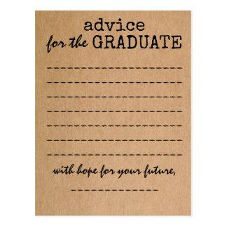 Graduation Kraft Advice Card Postcard