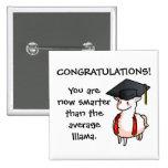 Graduation Llama Button