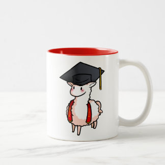 Graduation Llama Two-Tone Coffee Mug