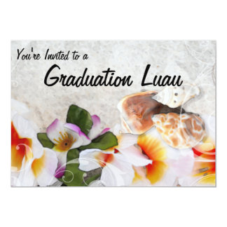 Graduation Luau Open House Card