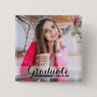 Graduation Modern Photo Button Script Square