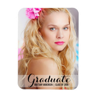 Graduation Modern Photo Magnet Script