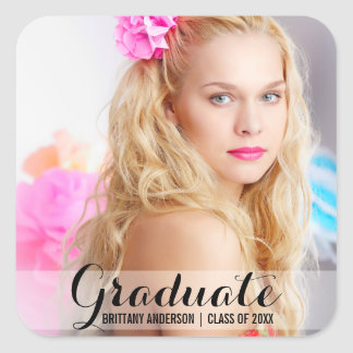 Graduation Modern Photo Sticker Script