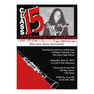 Graduation Music Clarinet 2015 Card