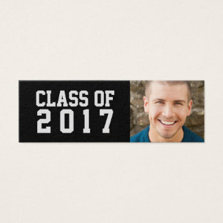 Graduation Name Card Photo - School Colors