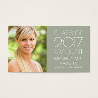 Graduation Name Card Photo - Your Color Choice