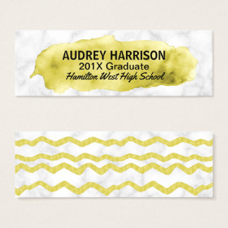 Graduation Name Card Senior Inserts Gold Marble
