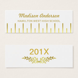 Graduation Name Card Senior Year Insert Deco Gold