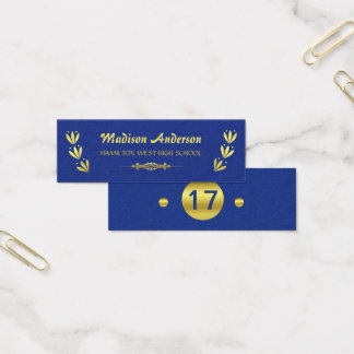 Graduation Name Card Senior Year Insert Gold Blue