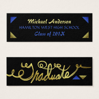 Graduation Name Card Senior Year Insert Gold Foil