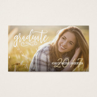 Graduation Name Cards Easy-Edit Full Photo