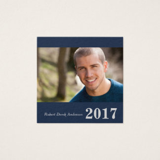 Graduation Name Cards Easy-Edit Square with Photo