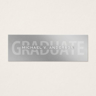 Graduation Name Cards Faux Silver Foil Letterpress