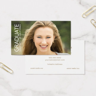 Graduation Name Cards Full Photo with Text Overlay