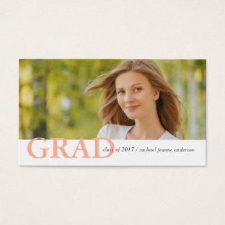 Graduation Name Cards Modern Photo Profile Style