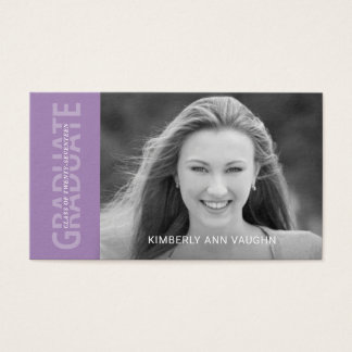 Graduation Name Cards Modern Text with Photo