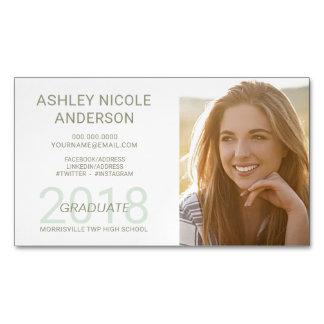 Graduation Name Cards Student Photo Magnet