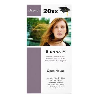 Graduation Open House (Thistle) Custom Photo Card