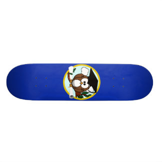 Graduation Owl With Cap & Diploma - Blue and Gold Custom Skate Board