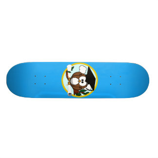 Graduation Owl With Cap & Diploma - Blue and Gold Custom Skateboard