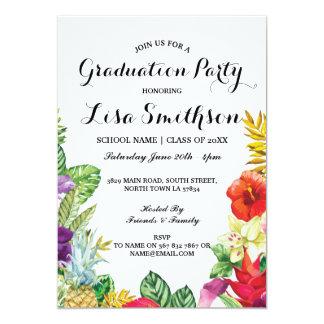 Graduation Party Aloha Tropical Luau Party Invite