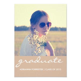 Graduation Party | Chic Beige Photo Card