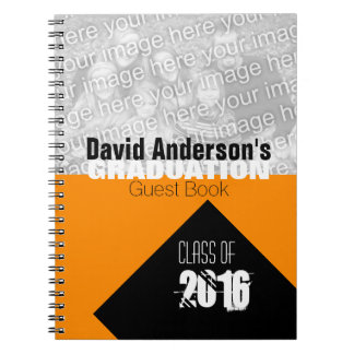 Graduation Party Class of 2017 Custom O Guest Book Note Books