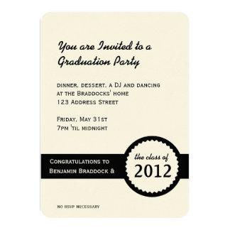 Graduation Party Diploma Seal Class of 2012 Card