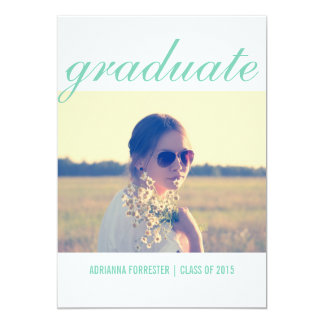 Graduation Party | Elegant Typography Photo 5x7 Paper Invitation Card