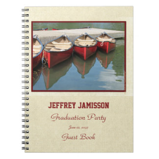 Graduation Party Guest Book, Red Canoes Notebook