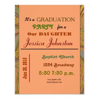 "graduation party 4.25"" x 5.5"" invitation card"