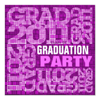 Graduation Party Invitation 2011 Mosaic Violet