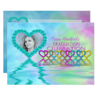 Graduation Party Invitation - Feminine - Photo