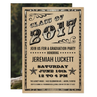 Graduation Party Invitation | Kraft Photo