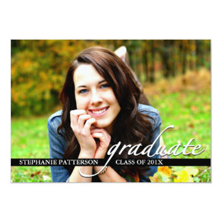 Graduation Party Invitation Photo and Script