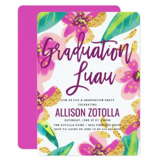 Graduation Party Luau Tropical Party Card