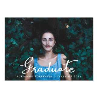 "Graduation Party | Modern Typography Photo 5"" X 7"" Invitation Card"