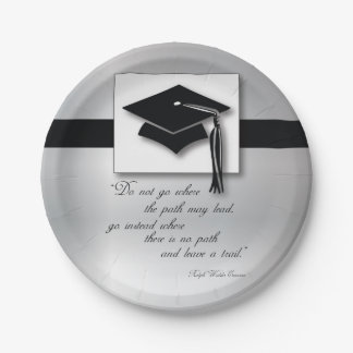Graduation Path, Round Gift Items 7 Inch Paper Plate