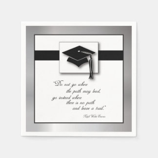 Graduation Path, Square Gift Items Paper Napkins