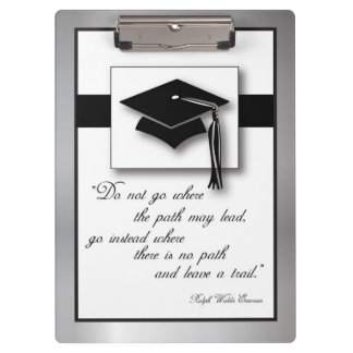 Graduation Path, Vertical Rectangle Gift Items Clipboards