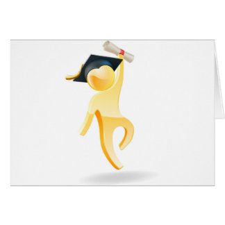 Graduation person greeting card