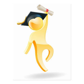 Graduation person postcards