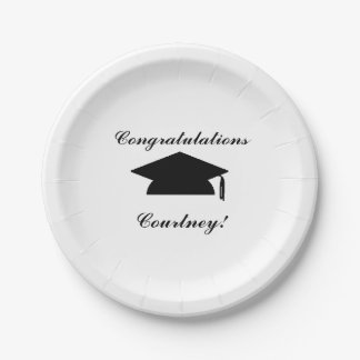 """Graduation"" Personalized Paper Plates"