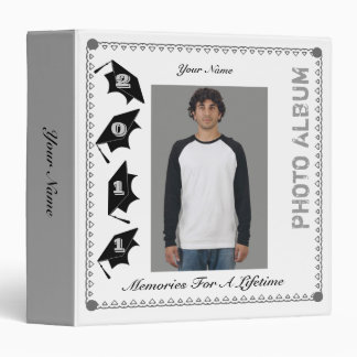 Graduation Photo Album Binder Grey 3
